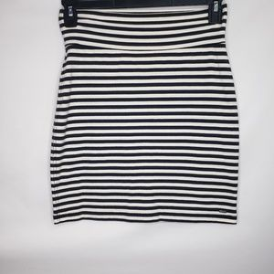 Victoria's Secret Pink Black White Stripe Skirt